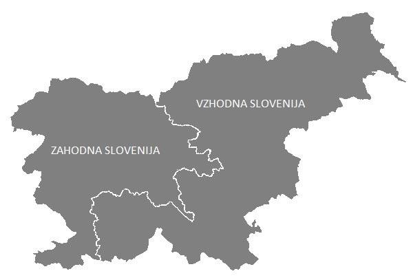 Vzhodna in zahodna Slovenija
