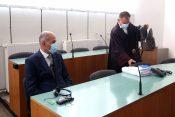 Janez Janša in Franci Matoz na sodišču