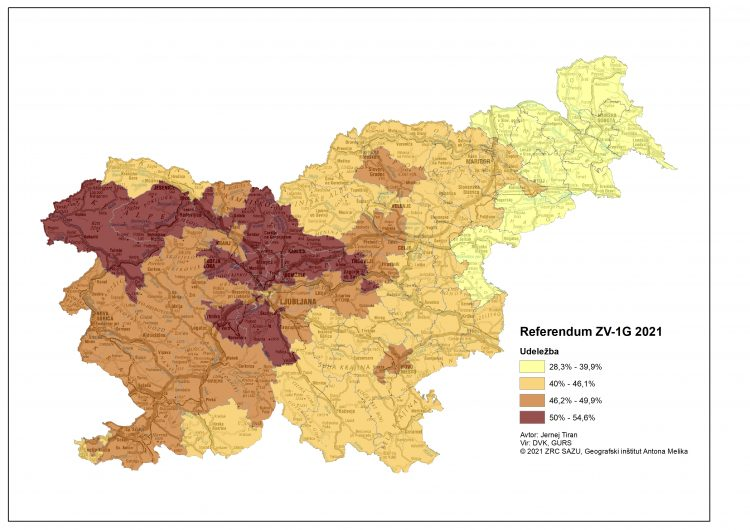 referendum 2021 zemljevid udeležba