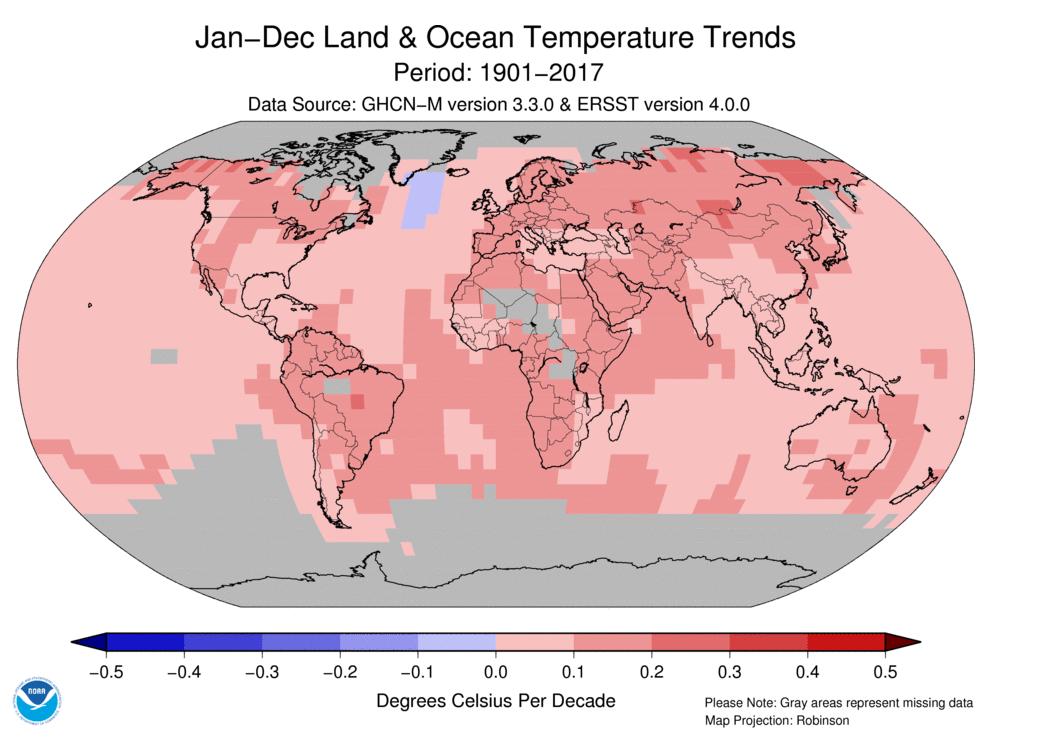 Temperaturne spremembe po desetletjih
