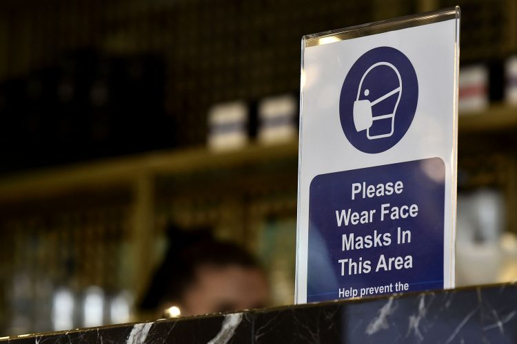 Obvezno nošenje maske