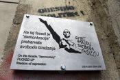 Tabla Grafit Janez Janša Pekarna Maribor