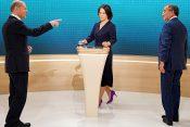 Soočenje kandidatov za kanclerja: Scholz, Laschet in Baerbock