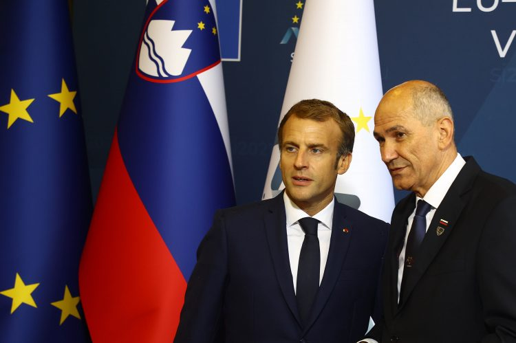 Emanuell Macron in Janez Janša