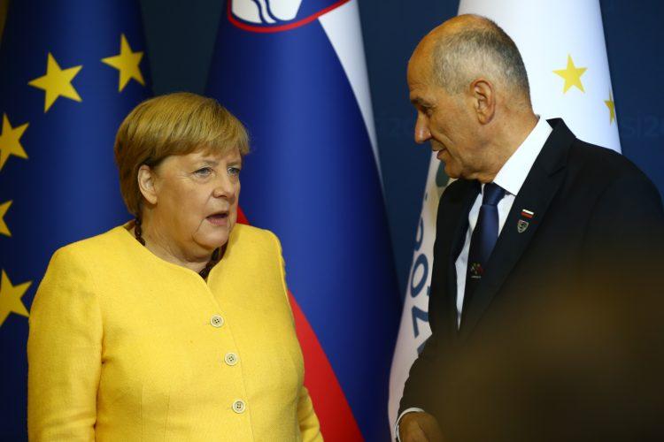 Janez Janša in Angela Merkel