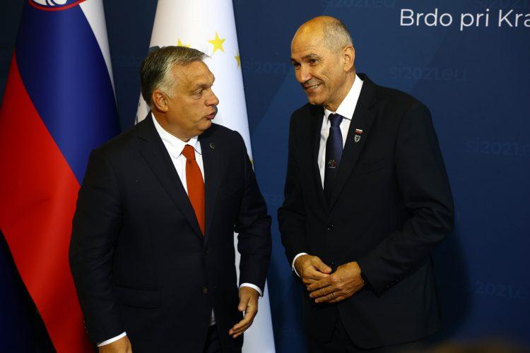 Viktor Orban in Janez Janša
