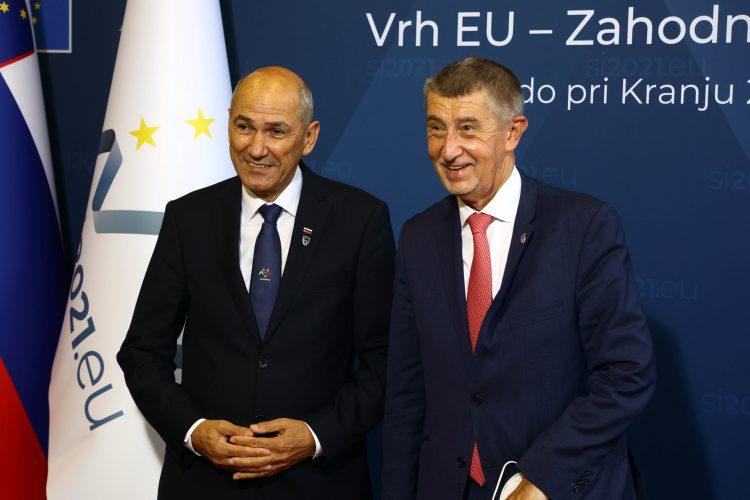 Andrej Babiš in Janez Janša