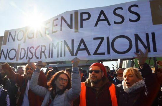 Protest v Trstu