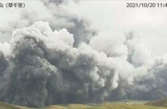 Izbruh vulkana na Japonskem